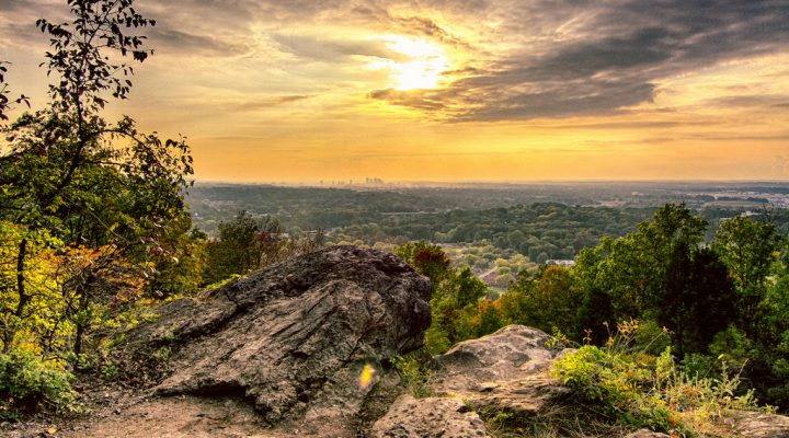 Biking and hiking in Birmingham, Alabama.